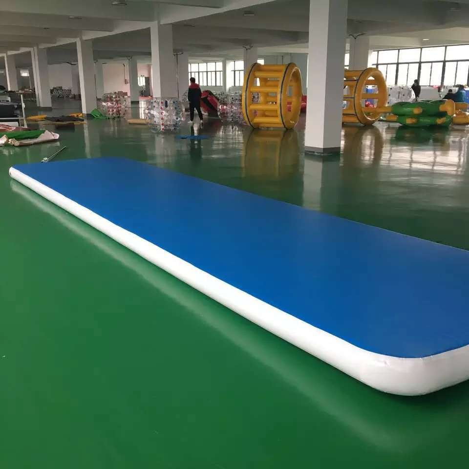 Free Shipping Free Pump Inflatable Airtrack Blue Color Gymnastics Mats For Training 6m 7m 8m Bouncing Mat/Tumble Track Air Floor