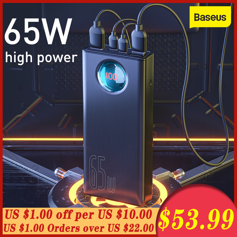 BASEUS 65W Power Bank 30000mAh QC3.0 FAST CHARGEประเภทC Quick ChargeแบบพกพาPowerbank External BatteryสำหรับSamsungสำหรับHuawei