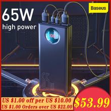 Baseus 65W Power Bank 30000mAh QC3 0 szybkie ładowanie typu C szybkie ładowanie przenośny Powerbank zewnętrzna bateria do samsunga dla Huawei tanie tanio 30000 1200 A 85 ~ 90 About 550g Dwukierunkowa Szybkie Ładowanie Baseus Amblight Digital Display Quick Charge Power Bank 30000mAh