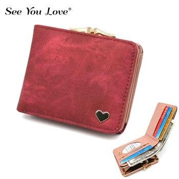 Mały damski portfel z sercem