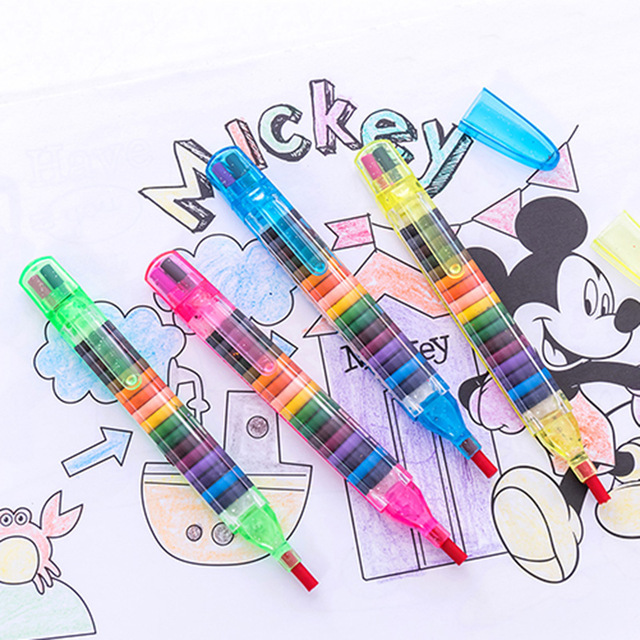 20 Colors/pcs Cute Kawaii Crayons Oil Pastel Creative Colored Graffiti Pen For Kids Painting Drawing Supplies Student Stationery