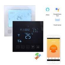 Termostato de pared inteligente HY603 con Control por voz, controlador de temperatura de suelo cálido para caldera de agua y Gas, Alexa y Google Home, 95-240V