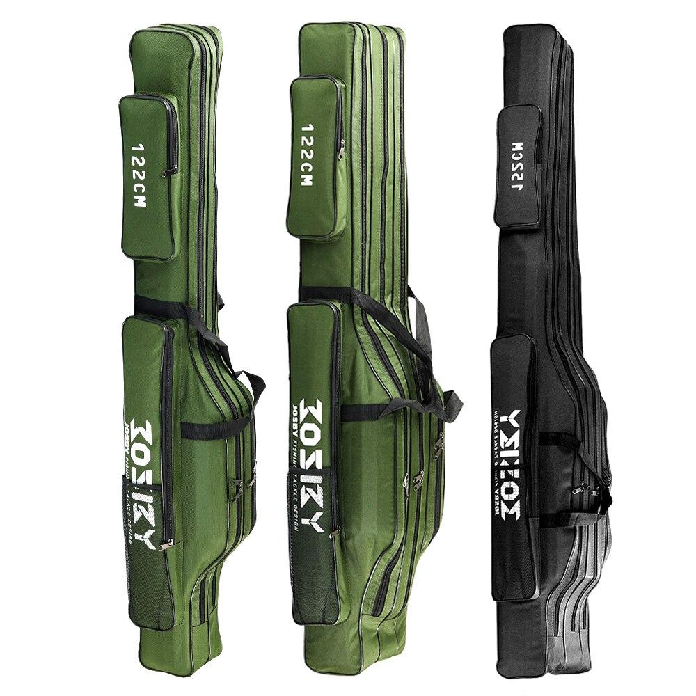 Fishing Rod Storage Bag  Oxford Cloth  Multifunctional  1/2/3 Layer  Large Capacity