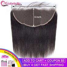 Габриэль бразильские Волосы remy прямо 13x6 синтетические волосы ЛОБНЫЙ с детскими волосами уха до Кружева Фронтальная застежка Пряди человеческих волос для наращивания