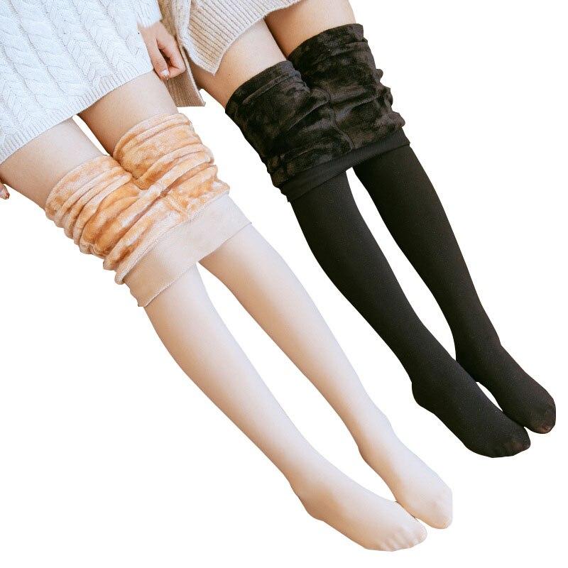 Winter Leggings Women Warm High Waist Plus Thick Plus Velvet Leggings Grey Brown Burgundy Red Navy Blue Black Slim Thin Leggings