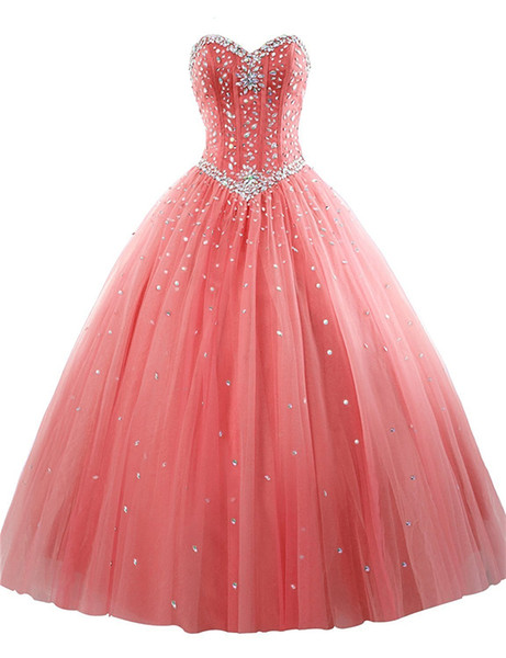 Ball Gown Quinceanera Dresses 2019 Sweet 16 Dresses Debutante Beadings Sky Blue Strapless Vestido De 15 Anos Robe De Bal Doce