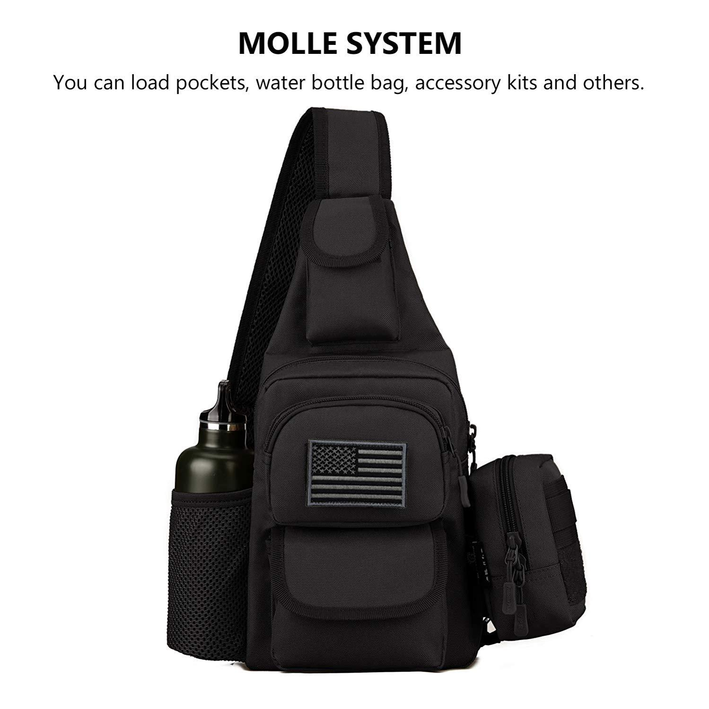 Outdoor USB Men Chest Bag Waist Sling Bags Tactical Sling Bag Crossbody Pack Mini Military Shoulder Backpack