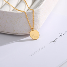 Circle Engraved Dolphin Necklace Women Men collares de moda 2019 Gold Chain Necklaces & Pendents Choker Jewelry Accesorios Mujer personalized multiple name necklace women men collares mujer family necklaces pendents custom jewelry gold chain choker kolye