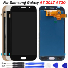 For Samsung Galaxy A7 2017 A720 LCD Display A720M SM-A720F Display Touch Screen Digitizer Assembly Replacement A720F LCD repair samsung galaxy a7 2017 sm a720f ds blue
