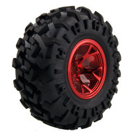 1/10 RC Tires anti wear universal flat foot Tyres HSP robot tire wheel monster Truck climbing accessories Toys off road vehicle