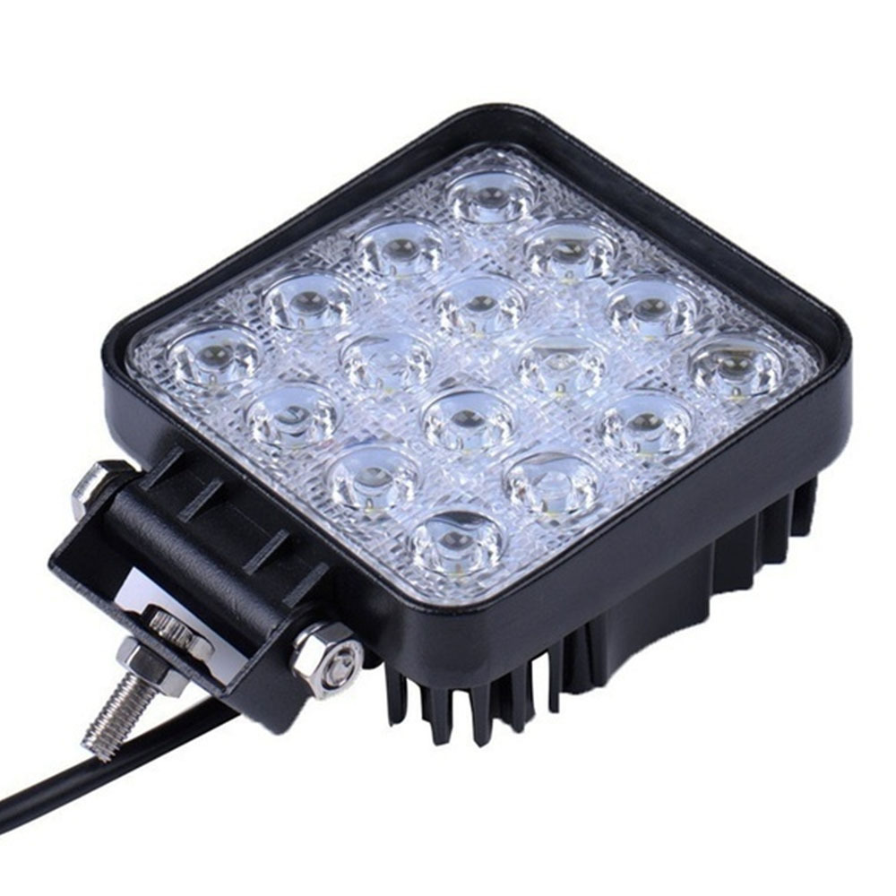 Off-road Light 16LED 12V 24V Vehicle SUV Car <font><b>Led</b></font> light bar Spotlight Flood Work Light Car 48W 3520LM Off Road <font><b>LED</b></font> Light Bar image
