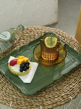 Wood Dessert Plate Cupcake Trays Table Storage Bread Dishes Home Decoration Cake Tools Food Photography Coffee Saucer