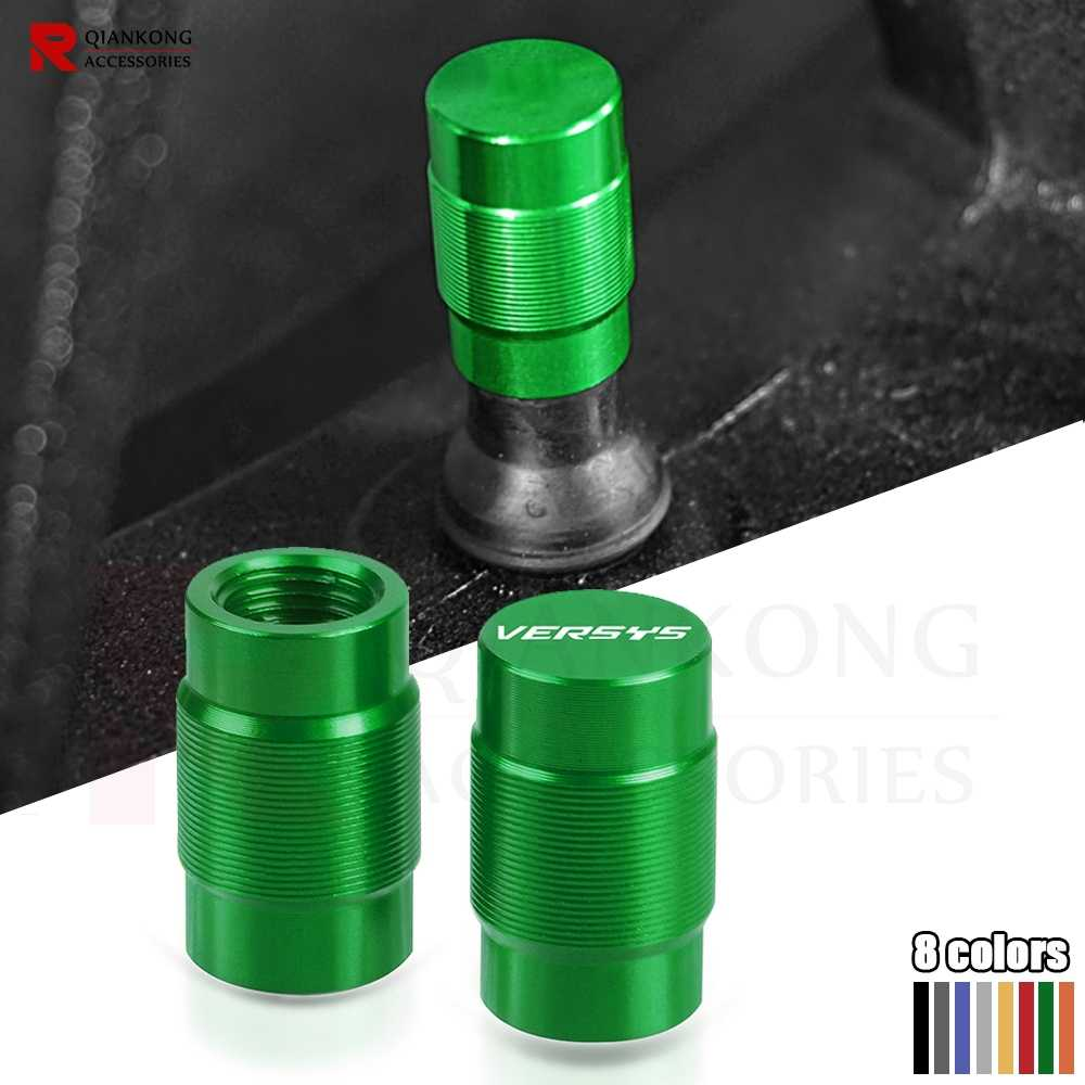 Motorcycle accessories CNC Front Rear Aluminum Wheel Tire Valve caps For KAWASAKI VERSYS 650 X300 1000 All year With VERSYS LOGO