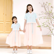 matching  mother and daughter clothes dresses summer big sister little sisters outfits twinning