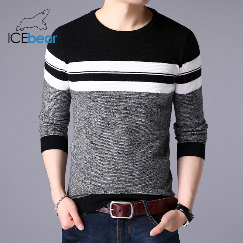 ICEbear 2019 Autumn New Male Sweater Casual Men's Pullover Brand Men's Clothing  1723