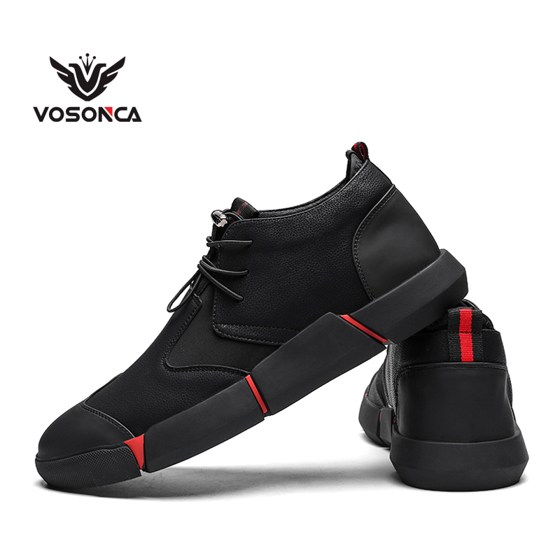 Vosonca Men Shoes  Microfiber Leather Shoes Men Casual Shoes Fashion Personality High Quality Classic Comfortable Men Flats
