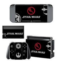 Star Wars Nintendoswitch Sticker Protector Wrap Skin Decal for Nintendo Switch Full Set Faceplate Stickers Console Joy-Con Dock