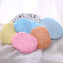 Esponja limpiadora Facial Suave, esponja limpiadora Facial de celulosa Natural, Color caramelo, 1/5 Uds.