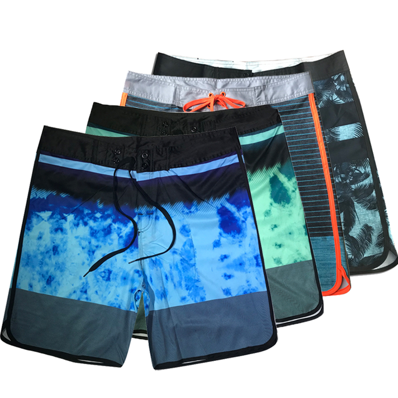 2019 Summer Quick Dry Board Shorts Men Summer Spandex Active Sexy Beach Surf Swim Shorts Men Bermuda Short Swimming Boardshorts