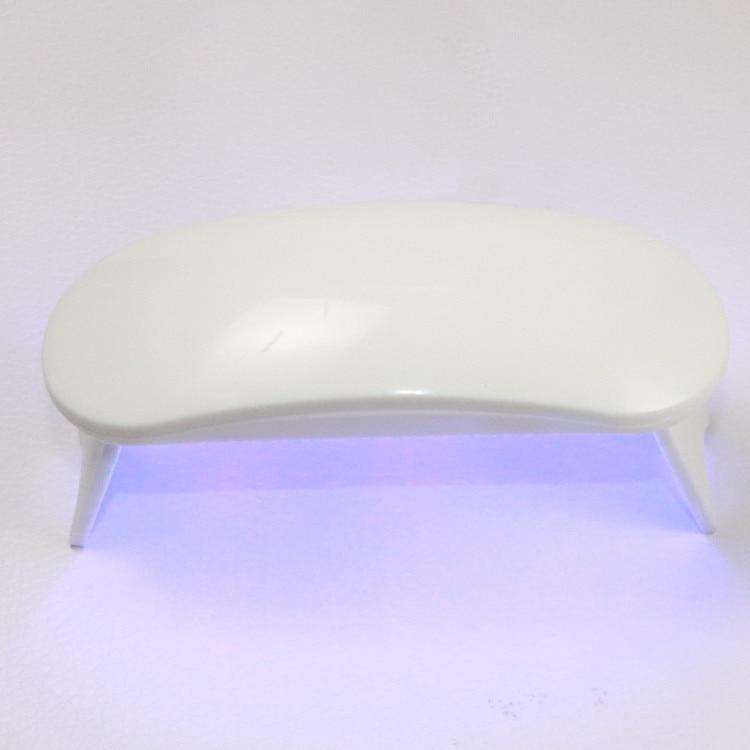 6W White UV LED Lamp Nail Dryer Portable Micro USB Cable Home Use Nail UV Gel Varnish Dryer Machine 3 LEDS Lamp Nail Art Tool