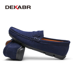Image 3 - DEKABR Hot sale Brand Men Loafers Mens Casual Shoes Suede Leather Moccasins Breathable Slip on Boat Shoes Chaussures Hommes
