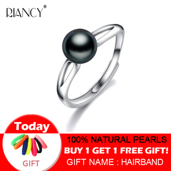 RIANCY Natural Freshwater Pearl Ring Jewelry 925 Sterling Silver Rings For Women High Guality pearl Wedding Gift