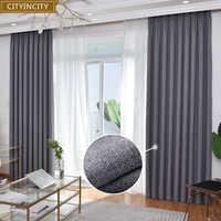 Затемненные занавески для гостиной, современные занавески из искусственного льна, корейский стиль, занавески для спальни, Индивидуальные