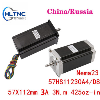 1pcs Nema 23 Stepper Motor 57HS 57X112 3A 3N.m 4-lead   motor 112mm 425oz-in for 3D printer for CNC engraving milling machine