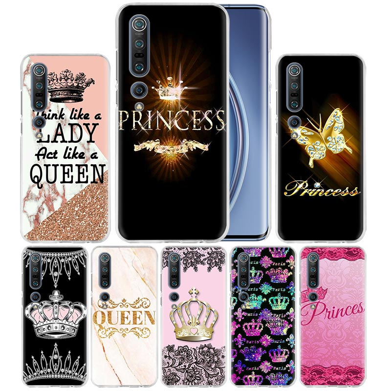 Mom Queen Princess Crown Case For Xiaomi Mi Note 10 Pro 9T 9 CC9 A3 A2 8 Lite 6X 10Youth 5G Poco X2 F1 F2pro Hard Coque Fall