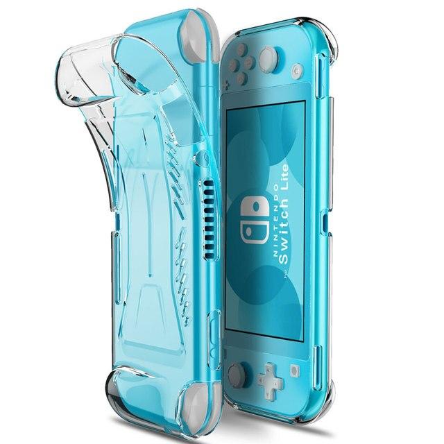 Nintendo anahtarı Lite koruyucu kılıf tutma kapağı TPU kaymaz temizle kabuk anahtar Lite konsolu aksesuarları