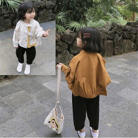 jaqueta meninas 2019 outono novas criancas de manga longa de algodao solida roupas cor crianca