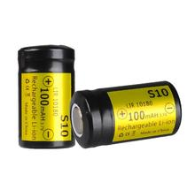2PCS S10 충전식 리튬 배터리 10180 리튬 배터리 100MAH 3.7V LIR10180