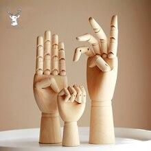 المنقولة لوتس الخشب رجل مشترك اليد نموذج الخشب دمية الإبداعية رسم الفن الأطفال تطوير الذكاء لعبة اللوحة لوازم
