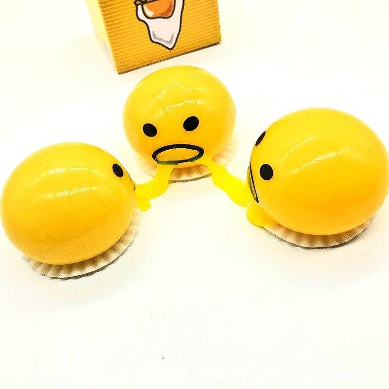 1 шт. яичный желток сжимаемые игрушки антистресс Reliever мягкое яйцо креативный подарок Шутка мяч забавные сенсорные игрушки