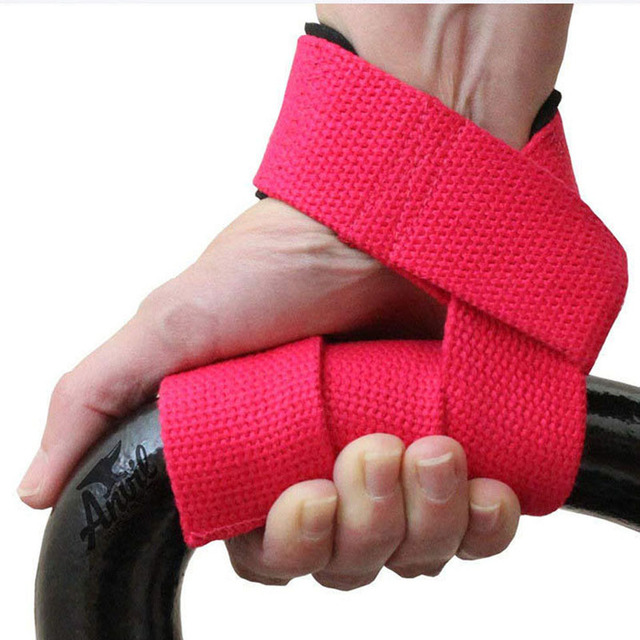 1 Pair Weightlifting Hand Belt Cotton Non-slip Strap Sports Fitness Wrist Strap Support Lifting Grip Belt for Men Wristband Electronics