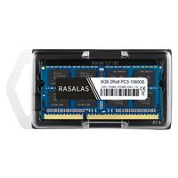 Rasalas 8 gb 2rx8 PC3-10600S ddr3 1333 mhz SO-DIMM 8 gb 1 5 v notebook ram 204pin portátil totalmente compatível memória sodimm NO-ECC azul