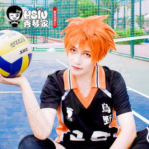 Image 2 - HSIU Anime Haikyuu!! Shoyo Hinata Cosplay Wig short orange Costume Play Wigs Halloween Costumes Hair