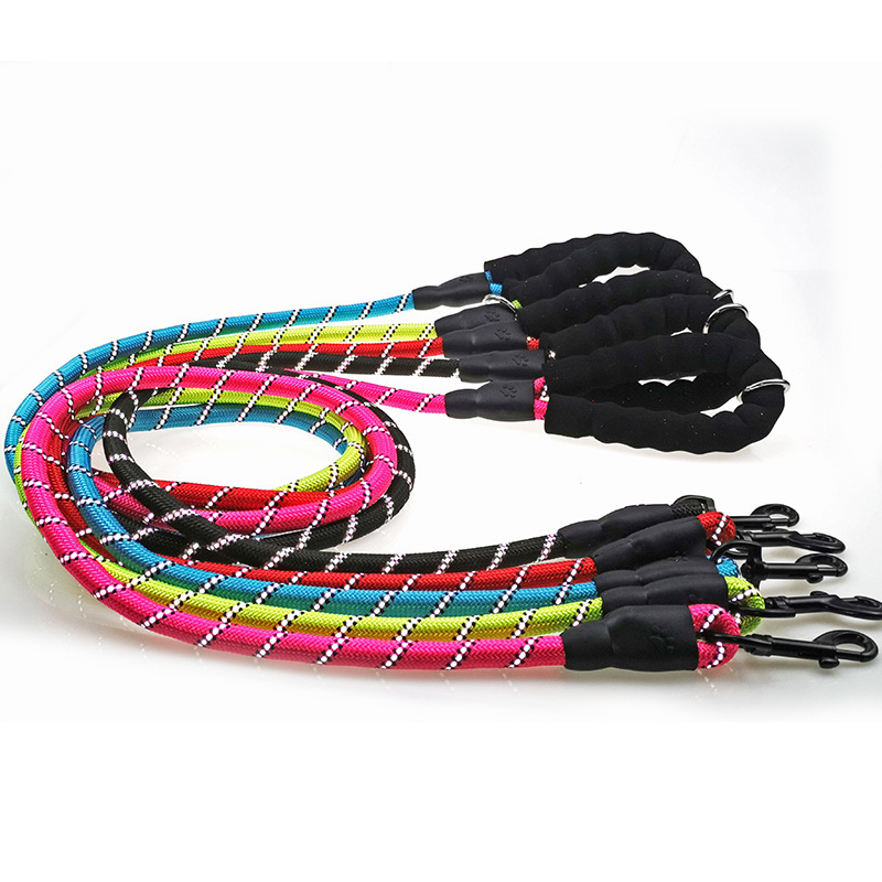 Big Dog Pet Traction Rope Eva Dog Nylon Reflective Proof Punch Traction Belt Round Rope Pet Supplies