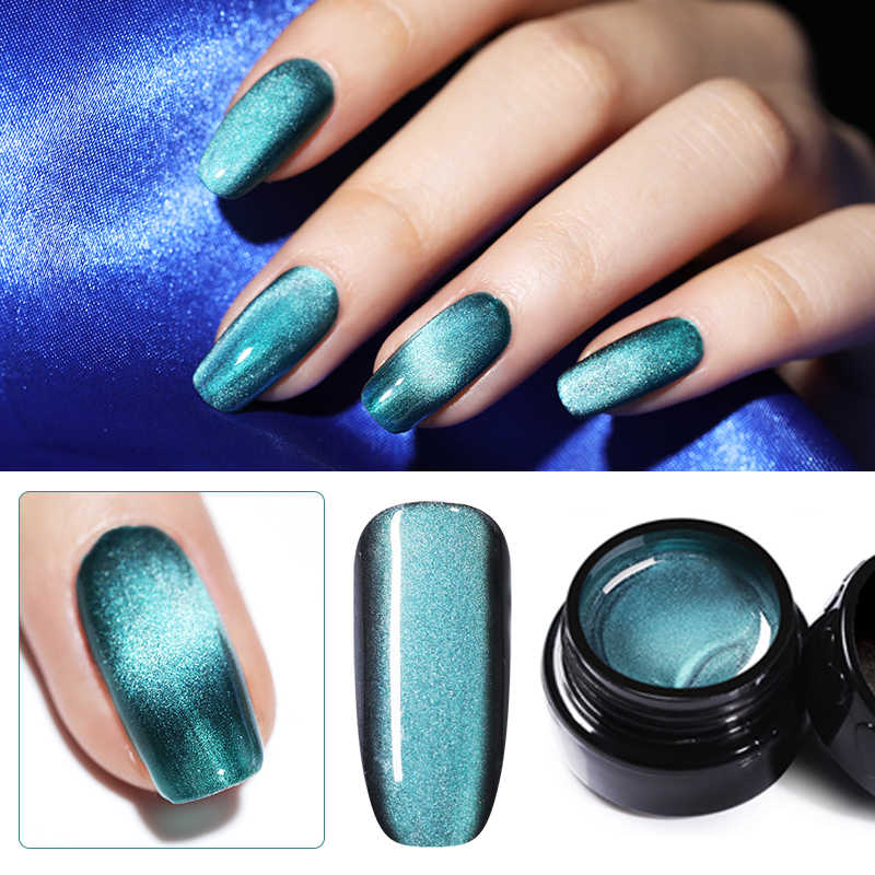 Magnetic 5D Cat Eye UV Gel Nail Polish Nail Art Pernis Gemerlapan Langit Jade Efek Rendam Off UV Gel Nail art Pernis Dekorasi