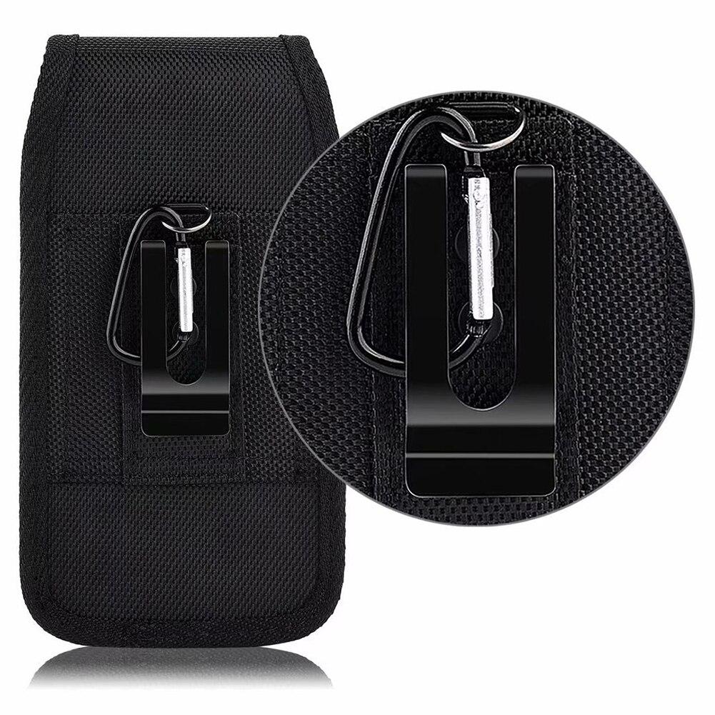 Black Classic Belt Clip Pouch Case For Waist Bag Phone Pouch Hanging Waist Storage Bag Unisex Portable Fanny Pack Black Hot Sale