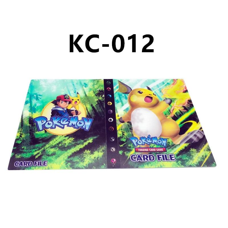 24 стиля Pokemon Cards альбом книга мультфильм аниме Карманный Монстр Пикачу 240 шт держатель альбомная игрушка для детей подарок - Цвет: KC-012
