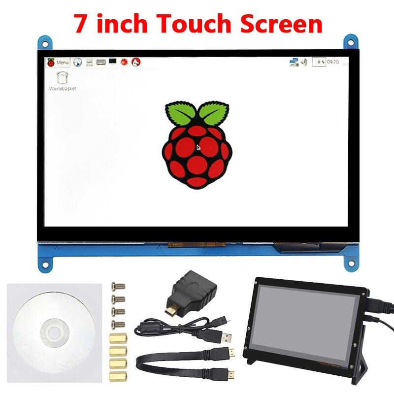 7 インチラズベリーパイ 3 タッチスクリーン 1024*600/800*480 ラズベリーパイ 4 LCD ディスプレイの Hdmi TFT モニターラズベリーパイ 3 モデル B 3B +  グループ上の パソコン & オフィス からの デモボードアクセサリー の中 1