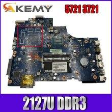 Akemy 0kcfdn для ins17R 5721 3721 Материнская плата ноутбука VAW11 LA-9102P 2127U DDR3 тестирование