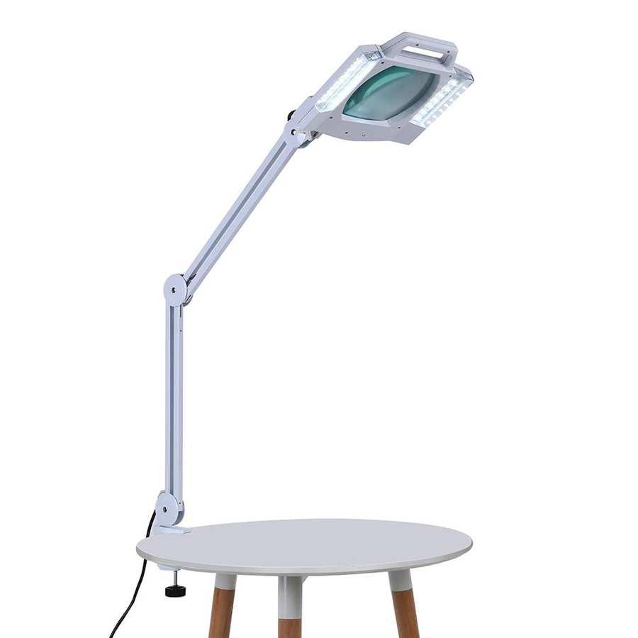 atualizado 5x iluminado desktop lampada de ampliacao com bracadeira giratoria medica beleza design dobravel
