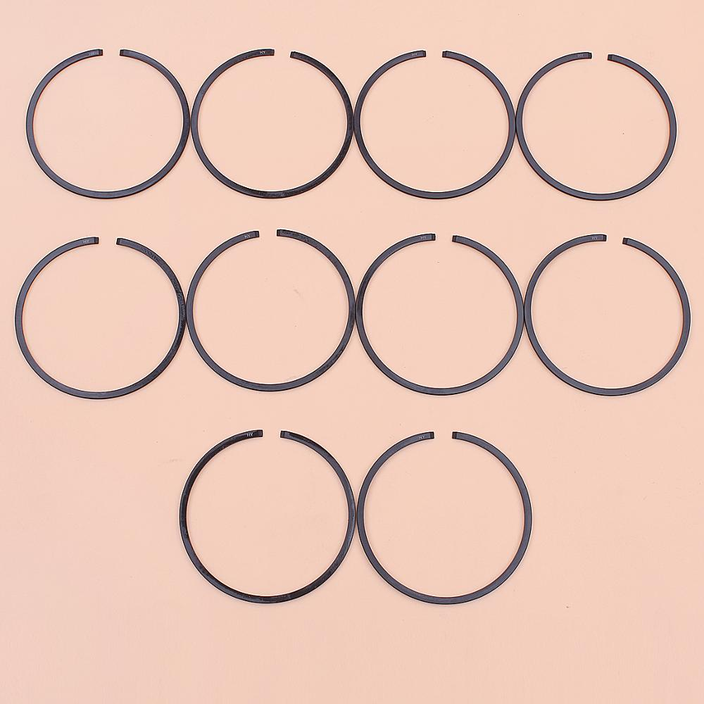 10pcs/lot Piston Rings For Stihl TS4800 <font><b>TS500</b></font> Cut Off Saw Part 52mm x 1.2mm 1122 034 3000 image