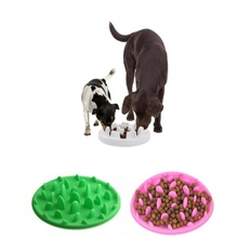 Pet dog cat breeder suffocation prevention food bowl pet silicone slow