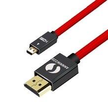 ANNNWZZD מיקרו HDMI (סוג D) כדי HDMI (סוג) זהב מצופה (במהירות גבוהה) מיקרו כבל HDMI 1.4a 2.0 אמיתי 3D ו ethernet מסוגל
