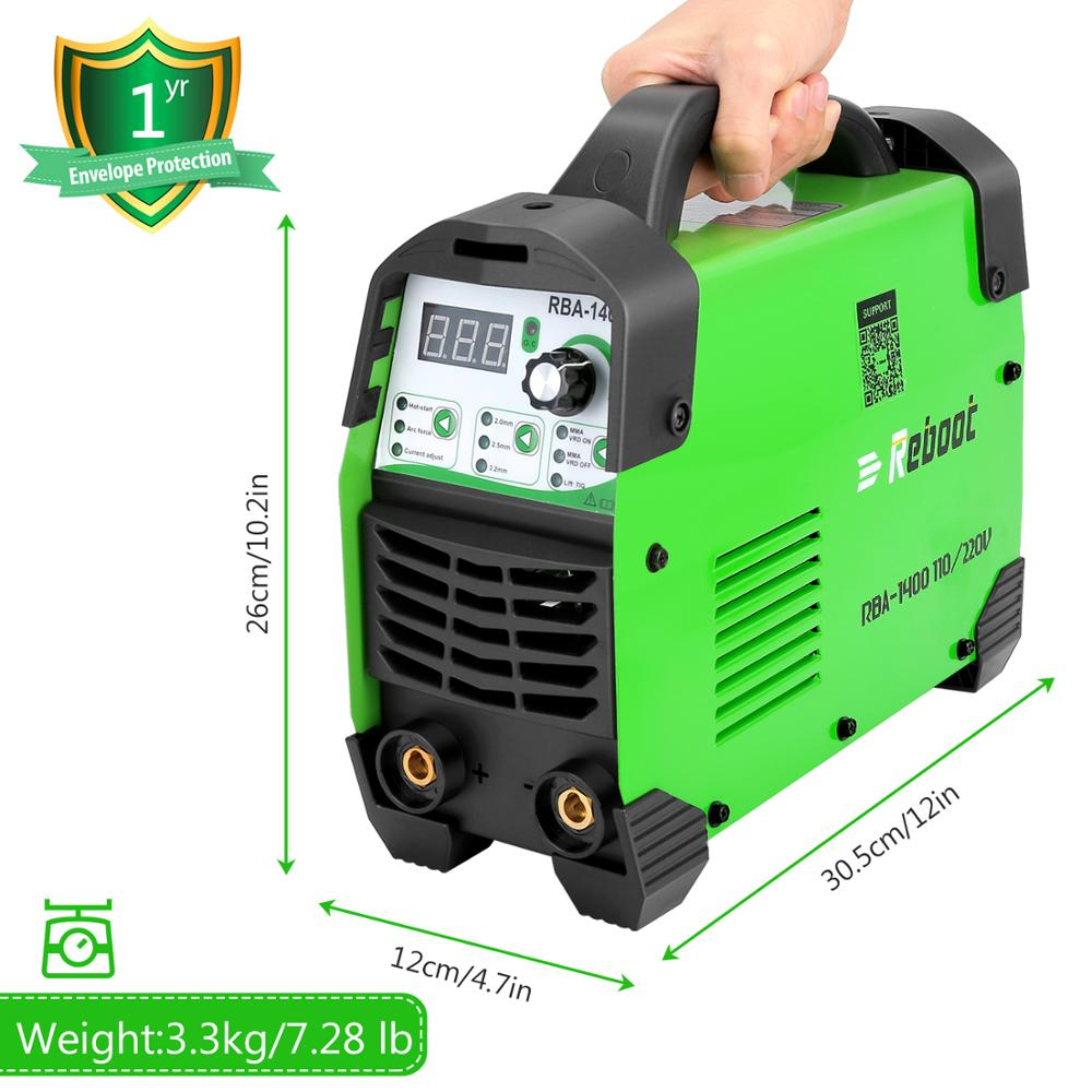 Reboot Arc Welder MMA Stick ARC-140 Lift Tig Function Update Arc Welding Machine Mini Portable Electrode Stick Welder