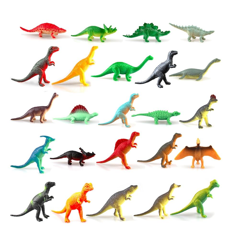 24 шт., игрушки динозавра для моделирования, Рождественский календарь, фигурки, игрушки для мальчиков и девочек, развивающие игрушки, подарки