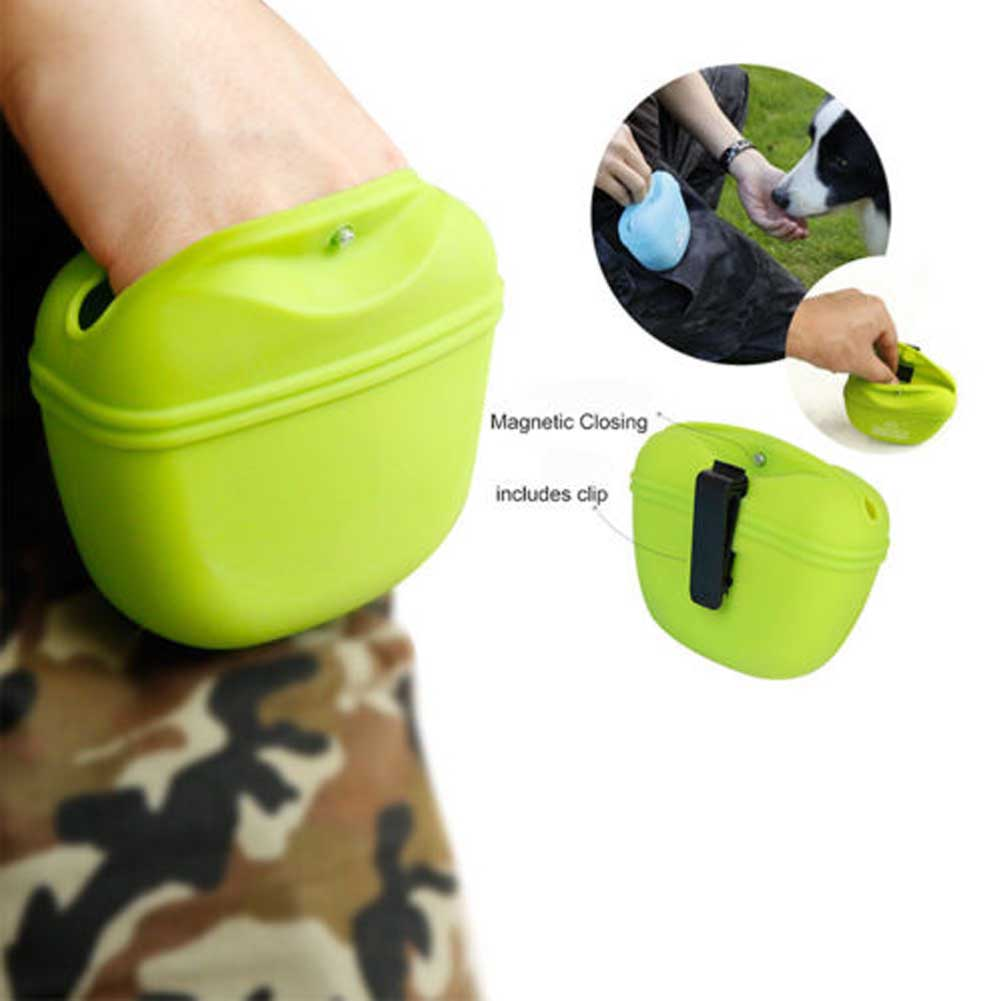 Pet Training Silica Gel Pocket Silicone Dog Treat Bag Food Snack Pouch Haversack